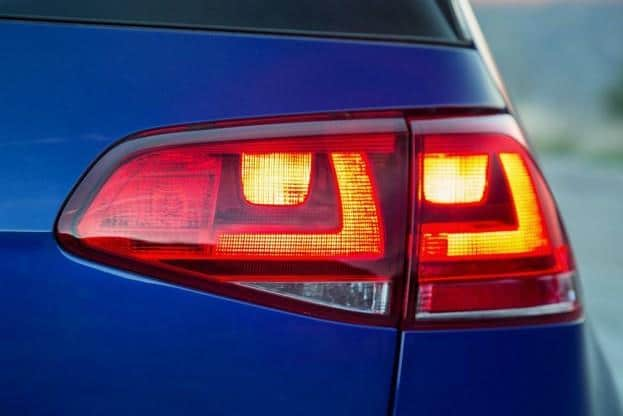 2015 VW Golf R tail light