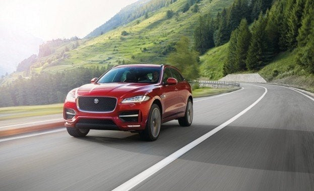 2017 Jaguar F-Pace in motion