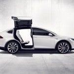 Tesla Model X open side