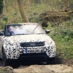 Range Rover Evoque Convertible testing at Eastnor 1