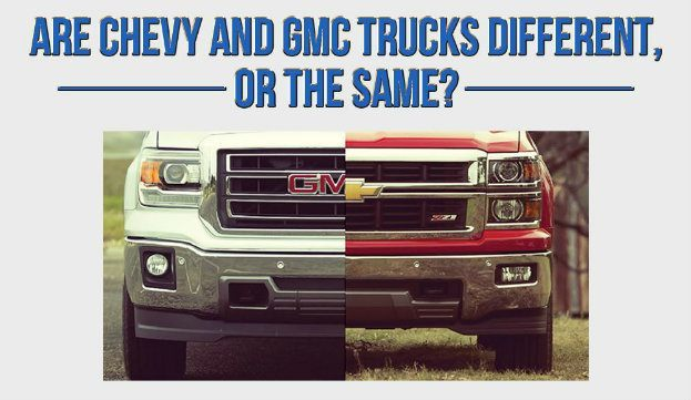 Gmc Vs Chevy >> Chevy Silverado Gmc Sierra Same Or Different