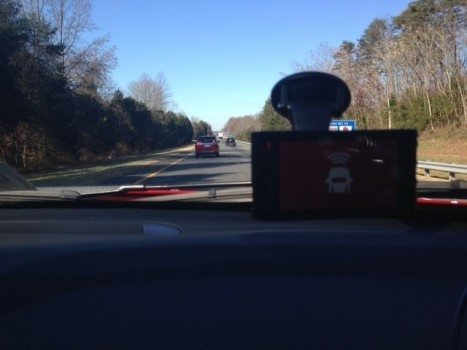 Image of a Garmin Dash Cam 35 alert