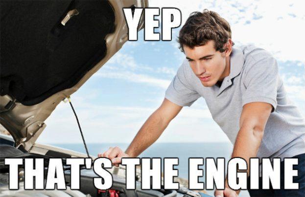 funny car meme yep thats the engine