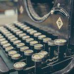 vintage technology keyboard old