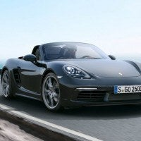 2017 Porsche 718 Boxter Right Front Three Quarters