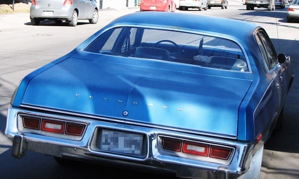 1976 Plymouth Fury rear