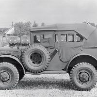 The command car underscores the versatility of the Dodge wartime truck lineup.