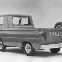 """The trucks in the A-100 line were primarily built as cargo and passenger vans, but there was also a pickup among them. This '64 model shows why the vehicle is called """"forward control"""": most of the cab is ahead of the front wheels."""