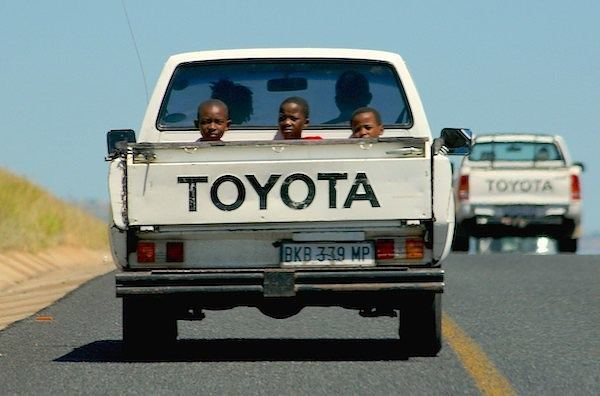 A Toyota Hilux on the Mpumalanga highway.