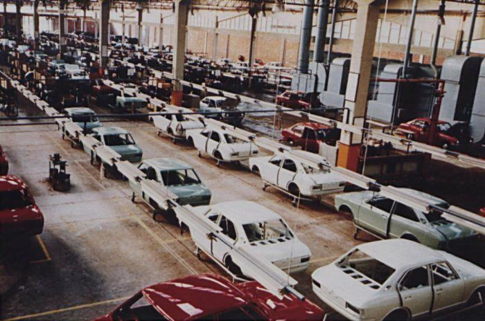 First Toyota production in Europe by Salvador Caetano in 1971. Photo: Toyota UK