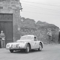 Bo'ness June 26, 1948 The Bo'ness hillclimb was renowned for its specials dating back to the 1930s, and one of its adherents was Ian Hopper, who competed here in such cars during 1947–1954. Hopper's creations were backed by his family garage business and the Hopper Special was their first postwar car. Its chassis came from a prewar Riley Kestrel fitted with a Triumph Dolomite engine and a windscreen resembling that later used for the Jaguar XK120 FHC.