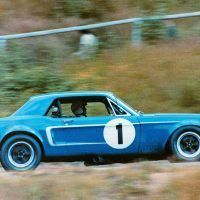 Mustangs won only three Trans-Am races in 1968, including two by driver Jerry Titus (pictured) in a Shelby team car. Mark Donohue won 10 in his Penske-prepped Camaro to claim Chevrolet's fi rst Trans-Am championship. Ford Motor Company Photo/Courtesy Austin C. Craig