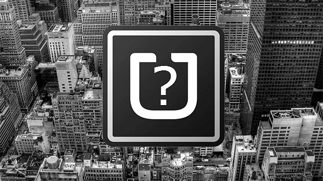 Image of Uber logo with question mark