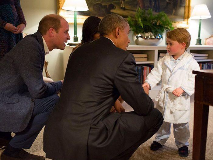 President Barack Obama and Prince George at Kensington Palace. Photo: Pete Souza / The White House