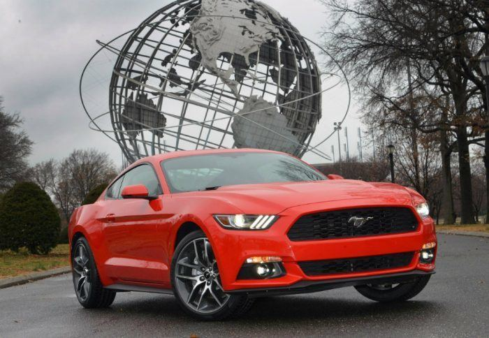 The 2015 Ford Mustang returned to the New York City World's Fair site where the iconic pony car debuted in 1964. The Mustang celebrates its 50th anniversary on April 17, 2014. Photo by: Sam VarnHagen/Ford Motor Company