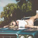 Girl on Car Hood Aral Tasher