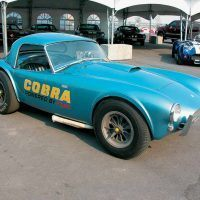 This is CSX2019, which was originally a Shelby PR car. It appeared as Elvis Presley's red no. 98 Cobra race car in Viva Las Vegas, then was returned to Shelby American where it soon became the first factory Dragonsnake Cobra. It now resides in the Shelby American Collection museum. Jeff Burgy