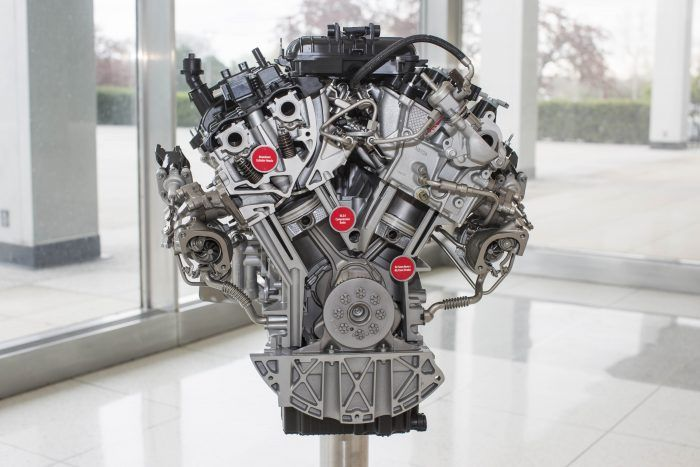 Ford engineers designed the new 3.5-liter EcoBoost engine to provide better low-end and peak engine performance, ideal for hauling heavy payloads and towing heavy trailers. Photo: Ford Motor Company