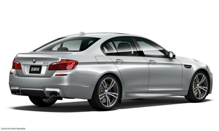 BMW M5 Pure Metal Silver Limited Edition Rear Profile