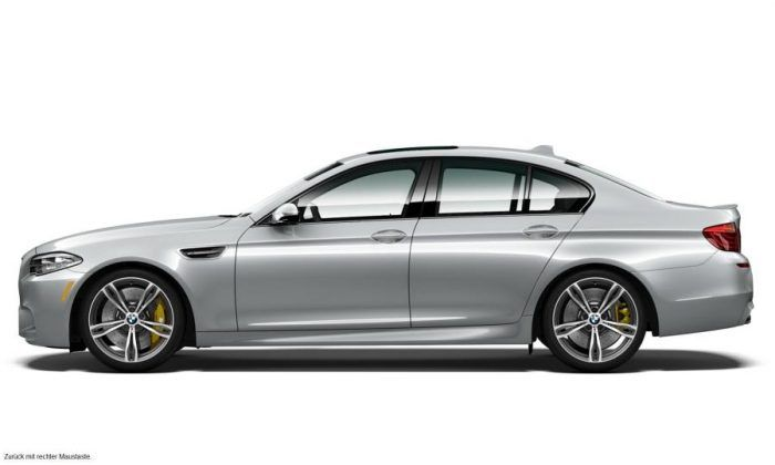 BMW M5 Pure Metal Silver Limited Edition Side Profile