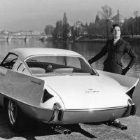 Superfast I looks sensational next to the River Po in Turin, Italy. The subtle fins were Pinin's homage to America, while the sparse background shows Turin prior to the labor migration boom that would take place in the following decade. Pininfarina archive