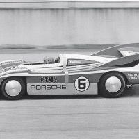Penske's mechanics went so far as to apply racer tape to the body seam ahead of the engine compartment. Donohue set a record of 221.12 miles per hour. Photo: Porsche Archive