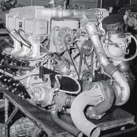 The Typ 930/25 engine for the 934 race car displaced 2,993cc, although with the FIA's 1.4 times displacement rule, it was classified as 4,190cc. It developed 485 horsepower at 7,000 rpm. Photo: Porsche Archive
