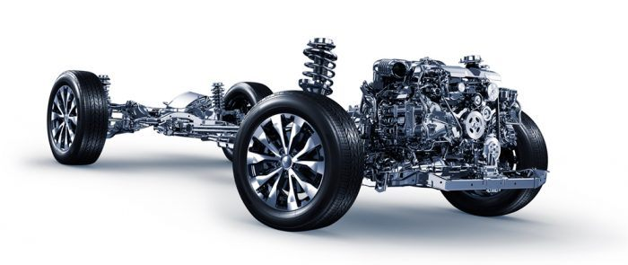 Subaru Boxer Engine & Chassis. Photo: Subaru