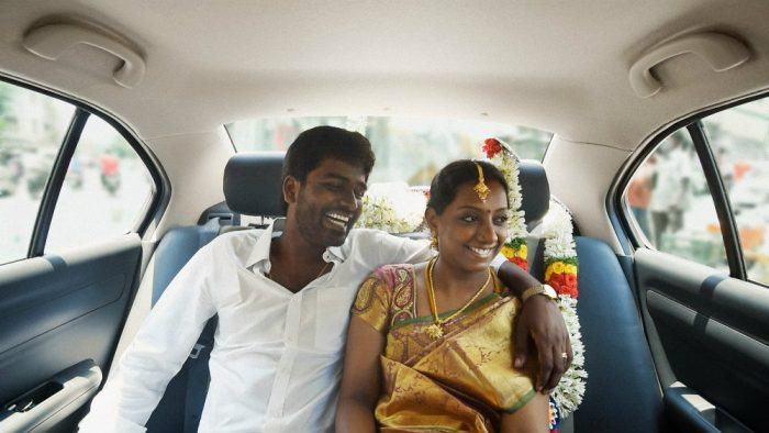 Uber passengers share a ride in India. Photo: Uber