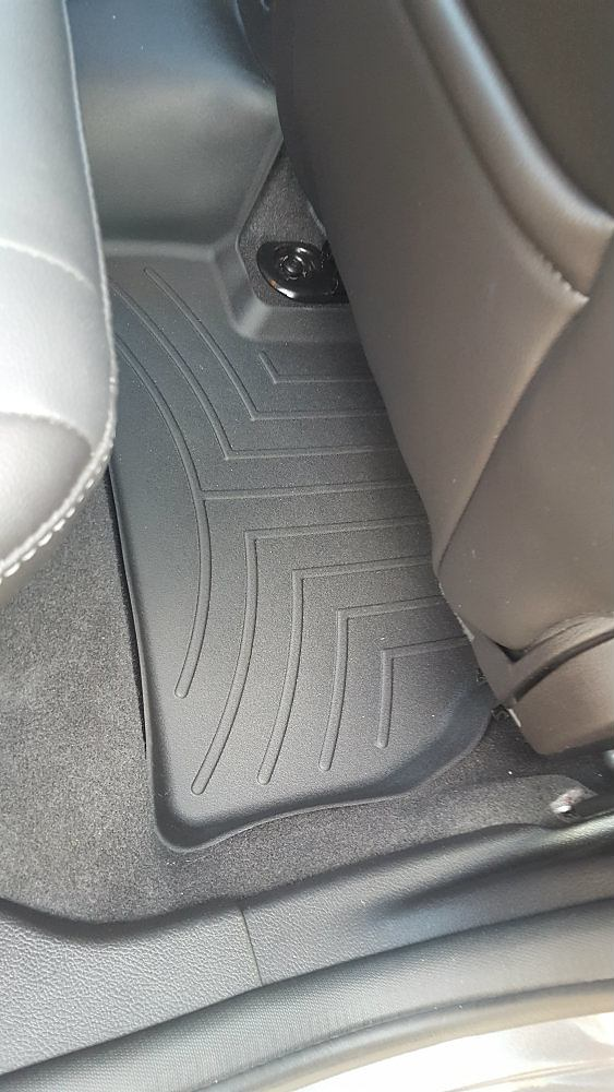 WeatherTech FloorLiners, passenger side, rear.
