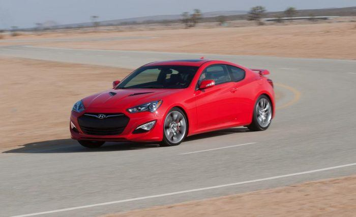 2016 Hyundai Genesis Coupe Left Front Three Quarters