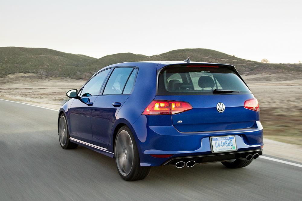 2016 Volkswagen Golf R Rear Profile Shot