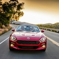 2017 Fiat 124 Spider Lusso Front Profile Shot