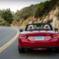 2017 Fiat 124 Spider Lusso Rear Profile Shot