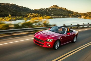 2017 Fiat 124 Spider Lusso Top Down Driving Dynamics