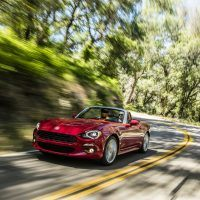 2017 Fiat 124 Spider Lusso Top Down Street Drive