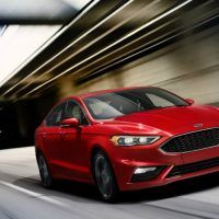 2017 Ford Fusion Sport Driving Profile Shot