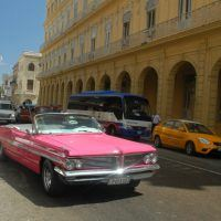 And just how did a pink 1962 Pontiac convertible find its way to Cuba during the embargo? This Poncho engine long ago bit the dust, and a Russian diesel engine now powers this car.