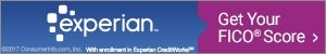 Experian credit score banner