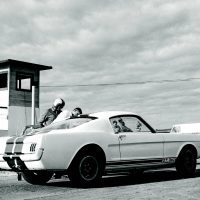 "5R002 during the filming of ""Shelby Goes Racing with Ford"" at Willow Springs Raceway. Shelby and Ford were eager to showcase their winning new Competition GT350 for obvious reasons. Photo: Carroll Hall Shelby Trust/Carroll Shelby Licensing, Inc."
