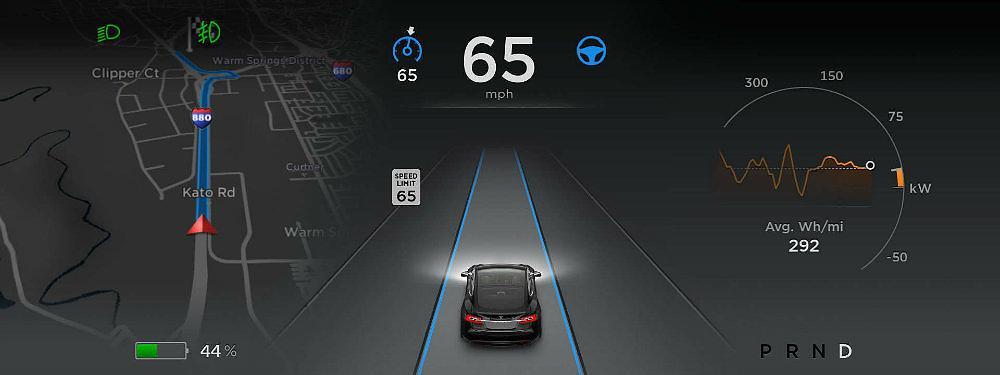 Tesla Auto Pilot. Photo: Tesla Motors
