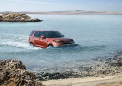 2017 Land Rover Discovery in water