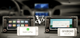Apple CarPlay vs Android Auto (Infographic)