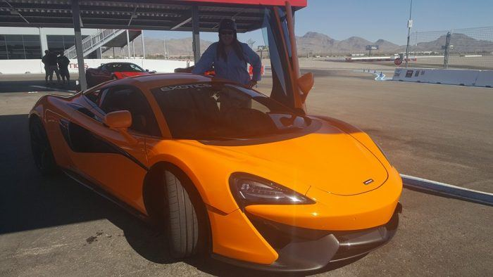 Automoblog Feature Writer Jerry Mooney at Exotics Racing