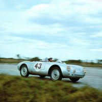 The team of Jack McAfee and Pete Lovely competed with a 550 Spyder at Sebring in 1956. Photo: Porsche Werkfoto.
