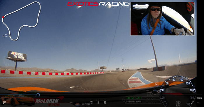 Feature Writer Jerry Mooney at Exotics Racing