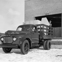 The idea behind the F-series was to offer a line of trucks with increasing capabilities. The F-5 shown here had more cargo capacity and a dually rear axle.