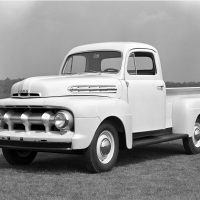 A major styling change occurred with the introduction of the 1951 F-1. The front grille was more prominent and stretched across the entire face of the truck.