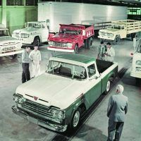Although Ford continued to push the F-100 very heavily in its marketing, the company continued to manufacture its larger commercial line of vehicles. It included the F-100 among these trucks in various photos, to imply it was just as capable and reliable.