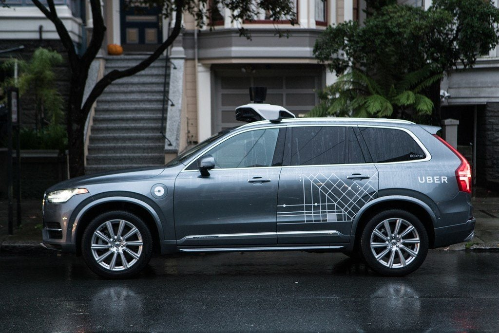 201685 Uber launches self driving pilot in San Francisco with Volvo Cars